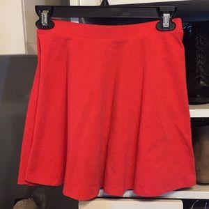Bright coral skater skirt